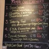 7venth Sun Brewery beer selection on 4/21/12