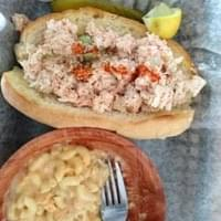 Lobster Roll with lobster Mac N Cheese