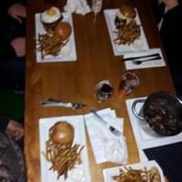 Cat fish sand, mussels, mile high burger and…