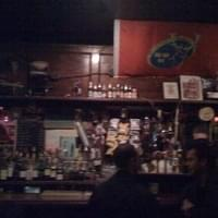 sort of blurry photo of the bar