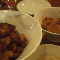 Gator bites and lobster hush puppies