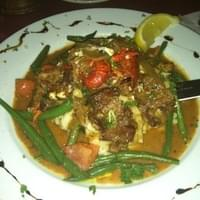 Cajun Steak & Crawfish with garlic smashed…