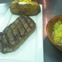 Steak night. 13oz steak, baked potato, salad for…