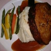 Meatloaf and mashed potato