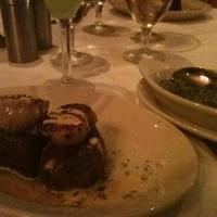 Filet with scallops & creamed spinach
