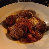Capalenni with meatballs. Real watery, had to…