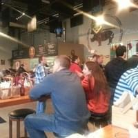 The bar - busy with growler refills.