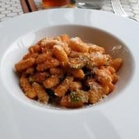 Cavatelli with rhubarb marinara
