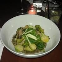 Braised pork with brussel sprouts