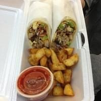 Burrito, all the meat, all the veg, hash on the…