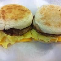 Breakfast sandwich made to order on English…